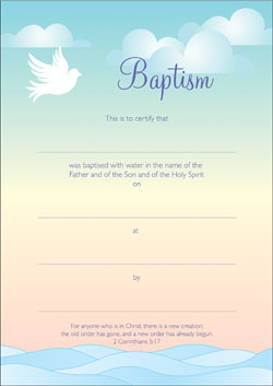 Baptism Certificate | Baptism Certificates Pack Of 10 A5 Certificates