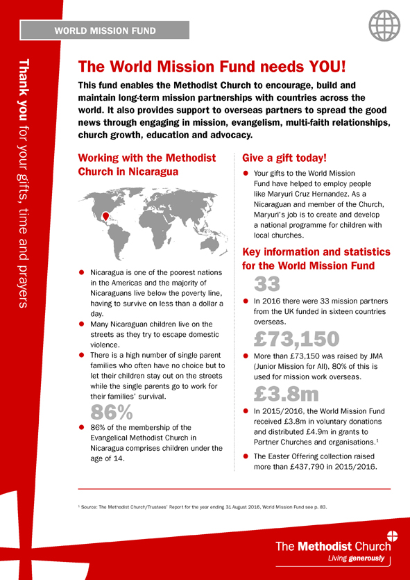 World mission fund information sheet single a4 sheet fandeluxe Images