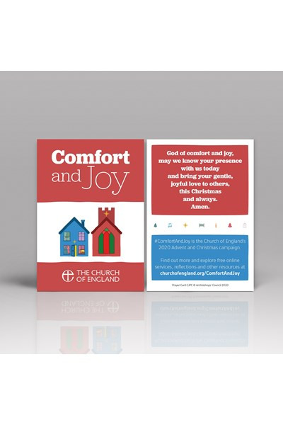 Comfort and Joy Prayer Card pack of 50