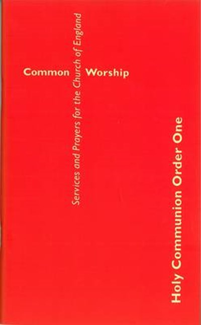 Common Worship: Holy Communion Order One Booklet (Large Format)
